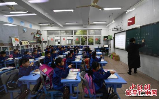 资料图:小学生们正在上课。中新社记者 王刚 摄